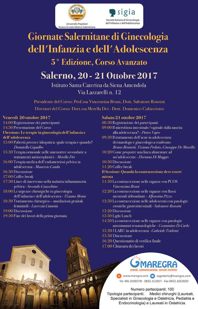 II Corso di Formazione Post Laurea in Ginecologia dell'Infanzia e dell'Adolescenza
