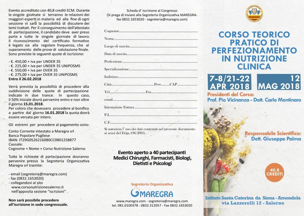Brochure Corso Nutrizione Salerno - Fronte